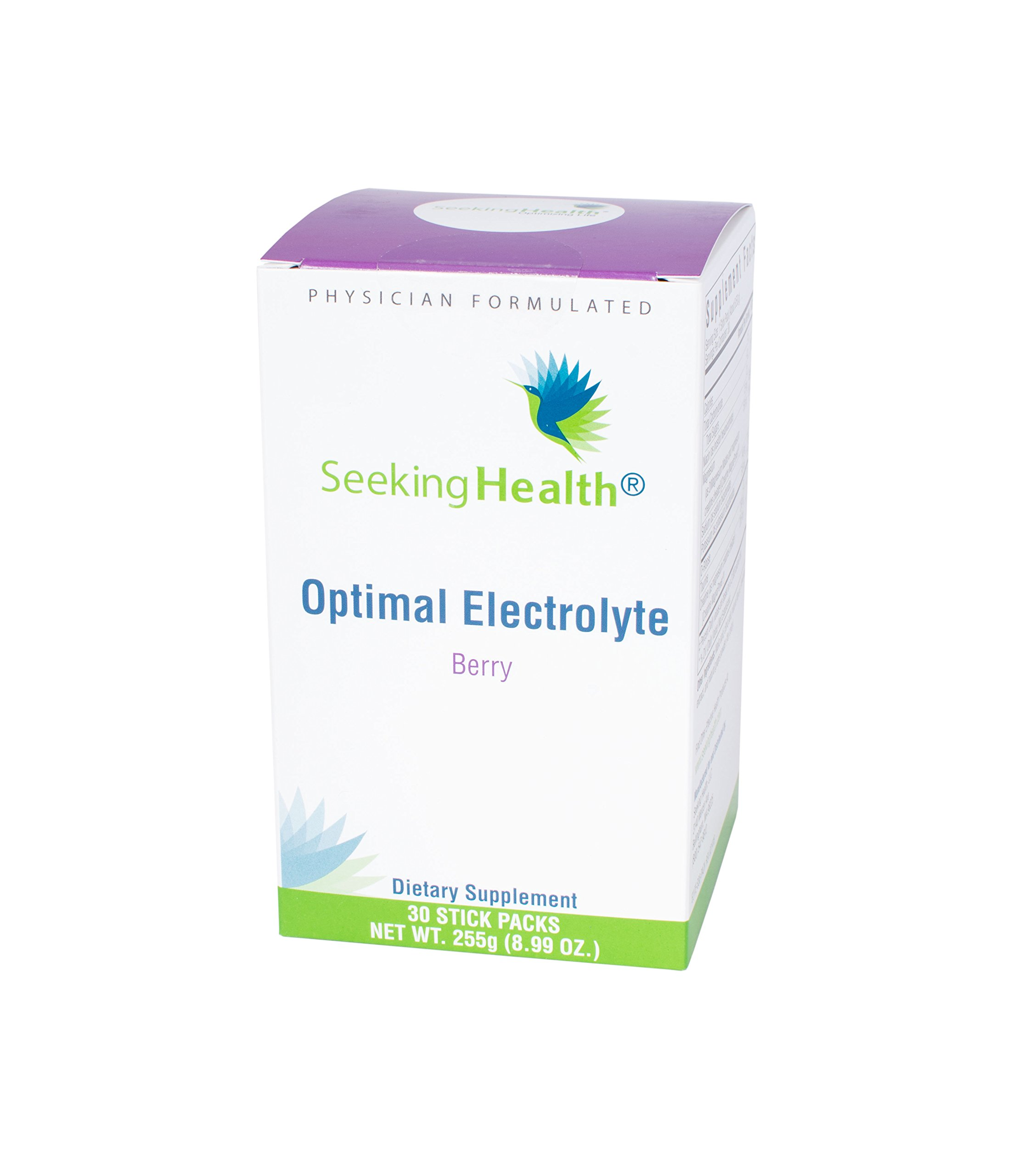 Seeking Health | Optimal Electrolyte Replacement | Berry-Flavored Vegan Electrolyte Powder | 30 Single-Serving Packets