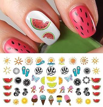 Amazon.com: Summer Time Fun Nail Art Decal Set #2 - Watermelon ...