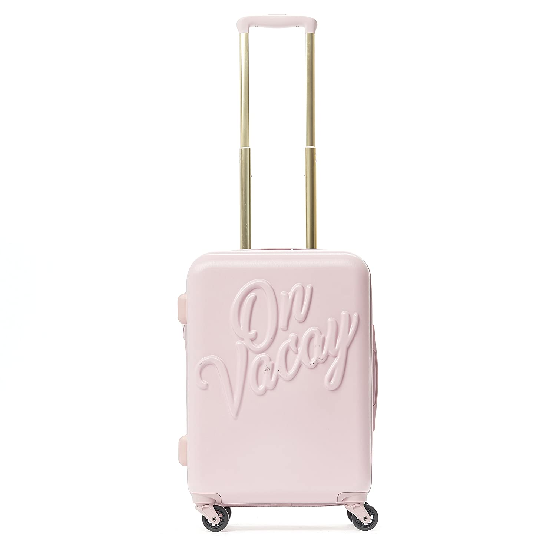 95ab5feb5 Macbeth On Vacay 21in Rolling Luggage Suitcase, Pink: Amazon.co.uk: Luggage