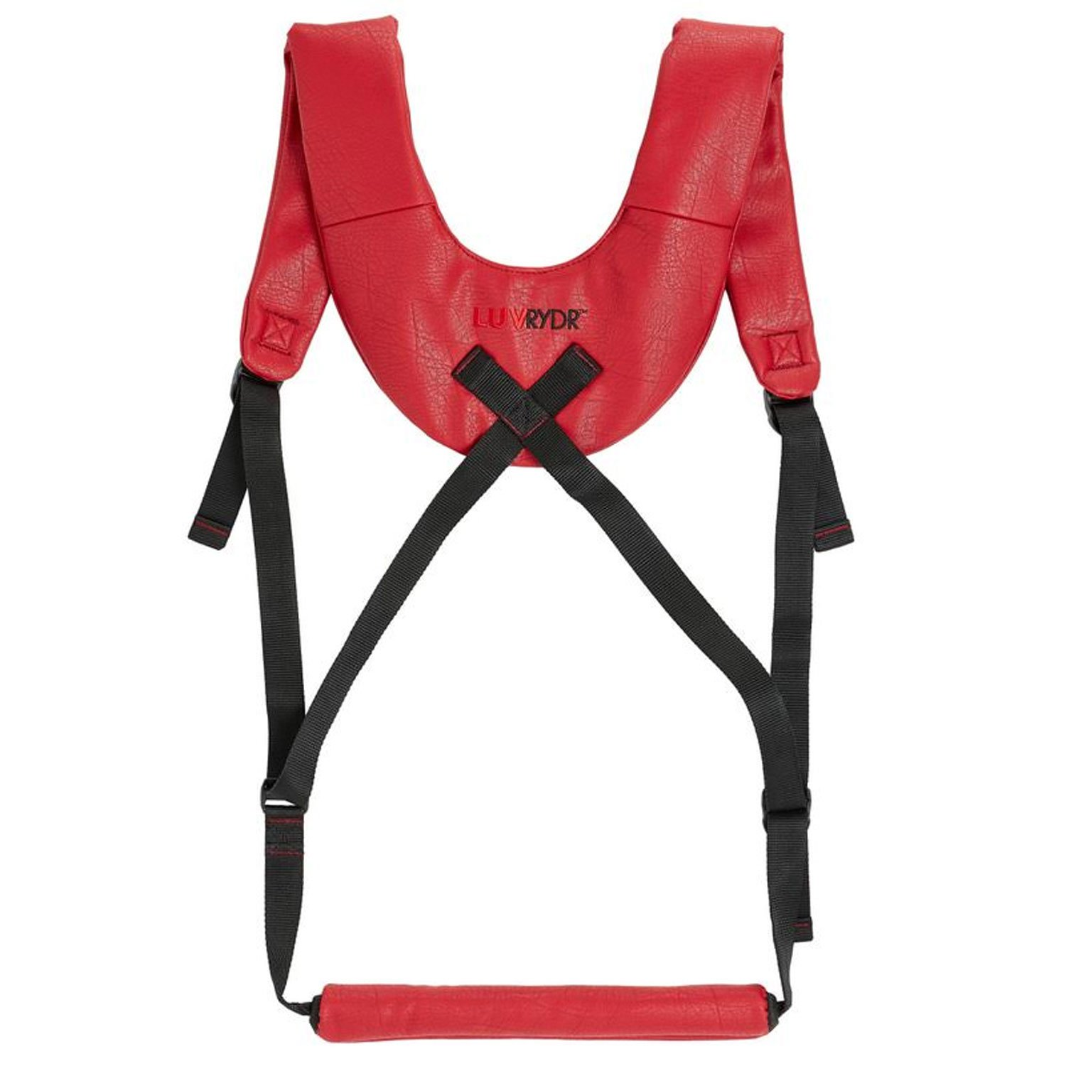 Restraint Doggy Style Strap Harness for Couples Sex Play by LUV Rydr (Red)