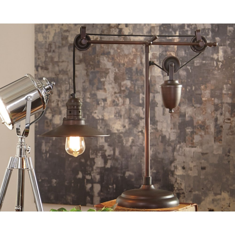 Ashley Furniture Signature Design - Kylen Desk Lamp with Metal Shade with in-Line Switch - Industrial - Bronze Finish by Signature Design by Ashley (Image #3)
