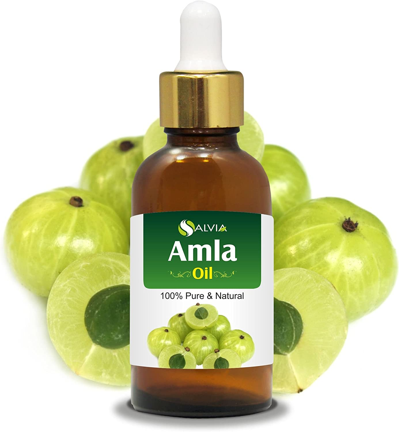Amla (Emblica Officinalis) Essential Oil 100% Pure & Natural Undiluted Uncut Oil   Best For Aromatherapy   Therapeutic Grade - 15ml with Dropper