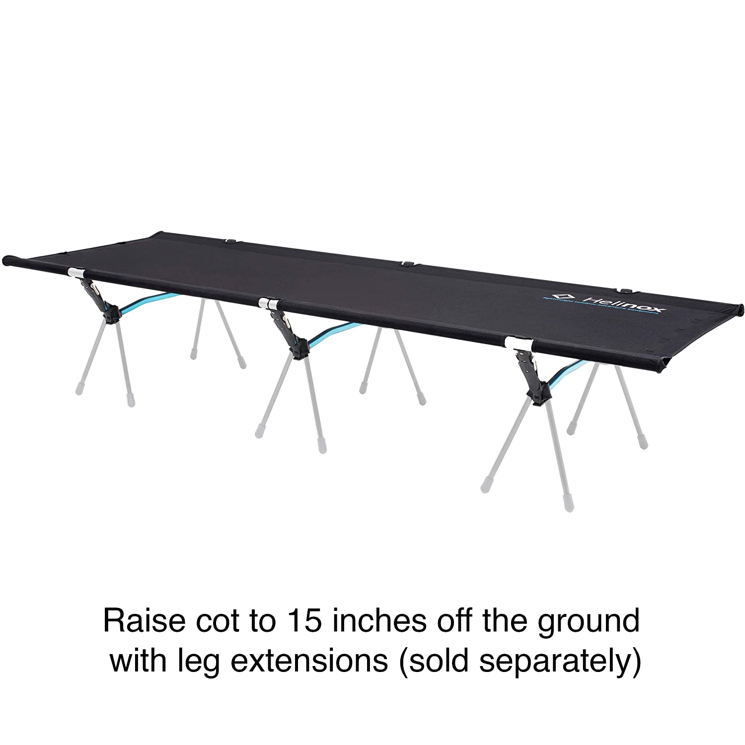 Adjustable Helinox COT ONE CONVERTIBLE Lightweight Black Compact Portable Camping Cot Collapsible