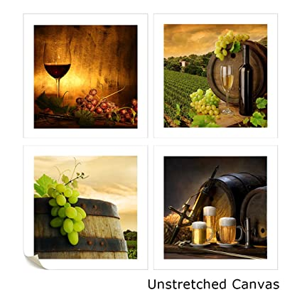 Amazon.com: VVOVV Wall Decor - Wine And Grape Wall Art Painting ...
