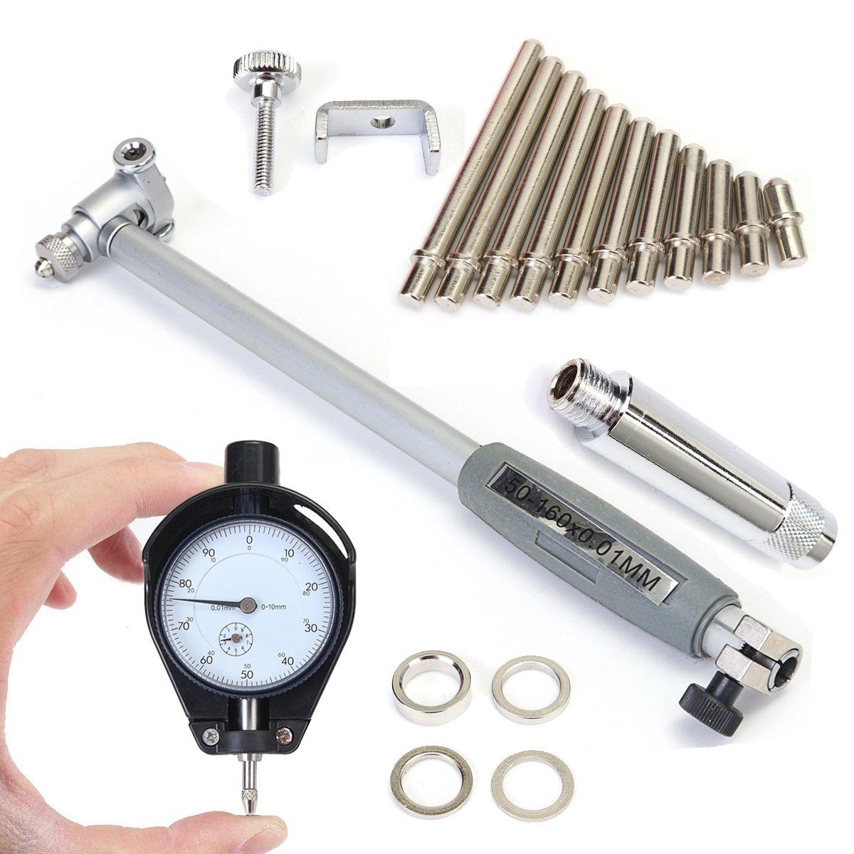 Generic 50-160MM Accuracy 0.01MM Indicator Inner Diameter Dial Bore Gauge