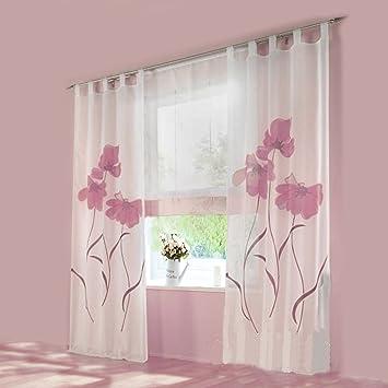 gardinen blumen. Black Bedroom Furniture Sets. Home Design Ideas