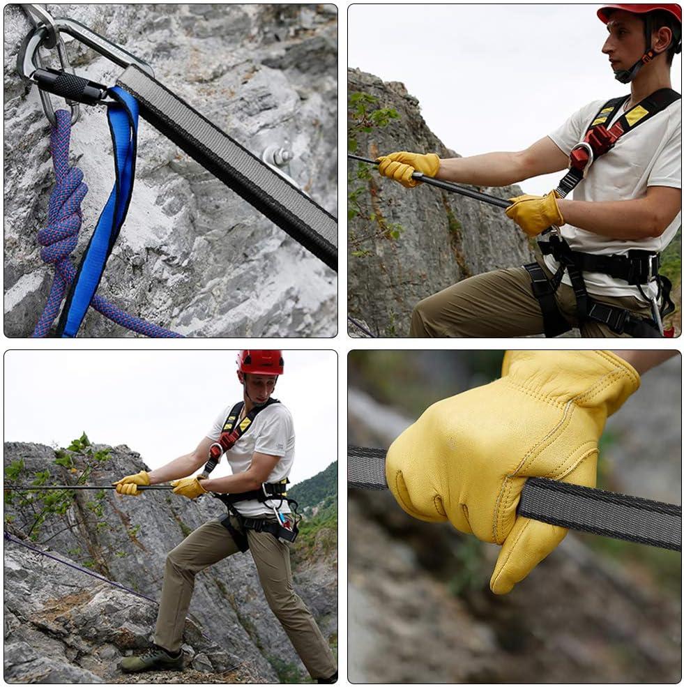 DASKING Correa de nailon de 18 mm para escalada de 23 kn para escalada al aire libre, hamaca de yoga, rappel de trabajo en árbol, actividades al aire ...