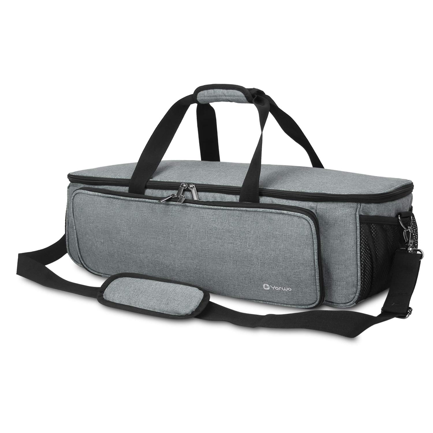 Cricut Maker Silhouette Cameo 3 Bag Only Tote Bag Heavy Duty Nylon Travel Bag Compatible with Cricut Accessories Supplies Air 2 Grey Yarwo Carrying Bag for Cricut Explore Air