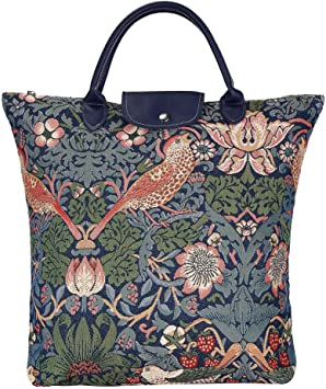 Reusable Grocery Shopping Tote Bag William Morris Tapestry Design Signare