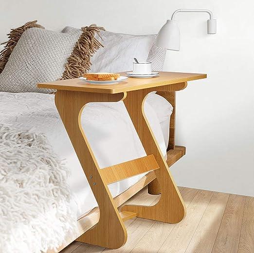 Mesa auxiliar para sofá o mesa de TV, bandeja en forma de Z, para ...