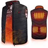 Heated Vest, Enjoyee Heated Vest for Men Women USB Rechargeable Heating Vest for Skiing Hunting Fishing Hiking Camping…