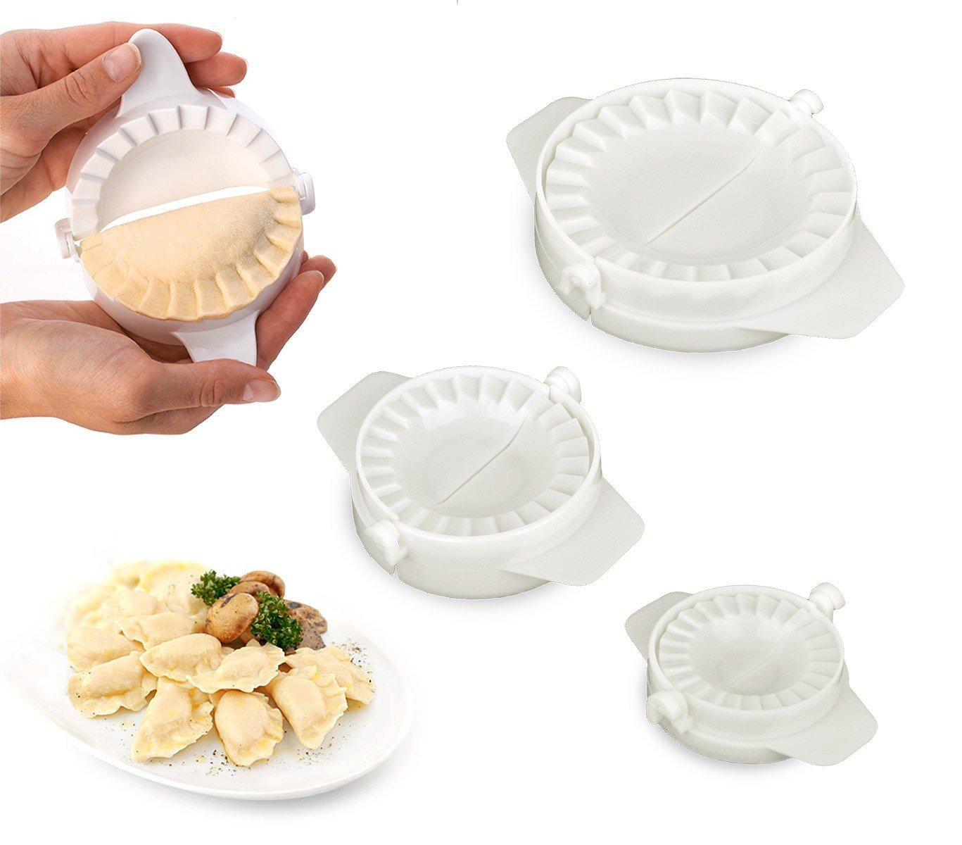 002021 Set de 3 moldes para raviolis y empanadillas de diferentes diámetros MEDIA WAVE store ®