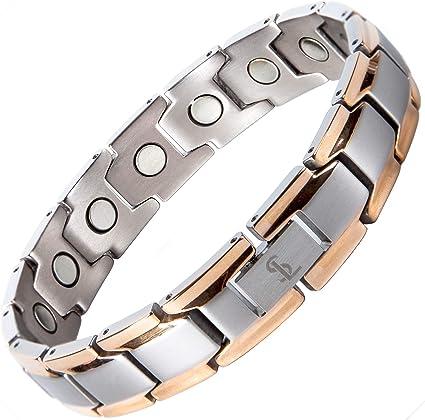 arthritis magnetic therapy Ladies premium titanium magnetic bracelet in rose gold