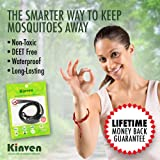 Kinven Original Mosquito Repellent Bracelet Natural DEET Free Insect Repellent Bands, Anti Mosquito up to 360Hrs Protection Outdoor and Indoor, for Adults & Kids, 8 Bracelets, Color: Black