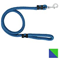 PetSutra Durable Rope Training Leash for Small, Medium & Large Sized Dogs, with Strong Brass Hook Multi Size & Multi Colored (18MM, Blue)
