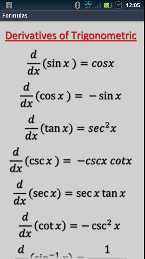 Amazon.com: Table of Integrals and Derivatives and Trig