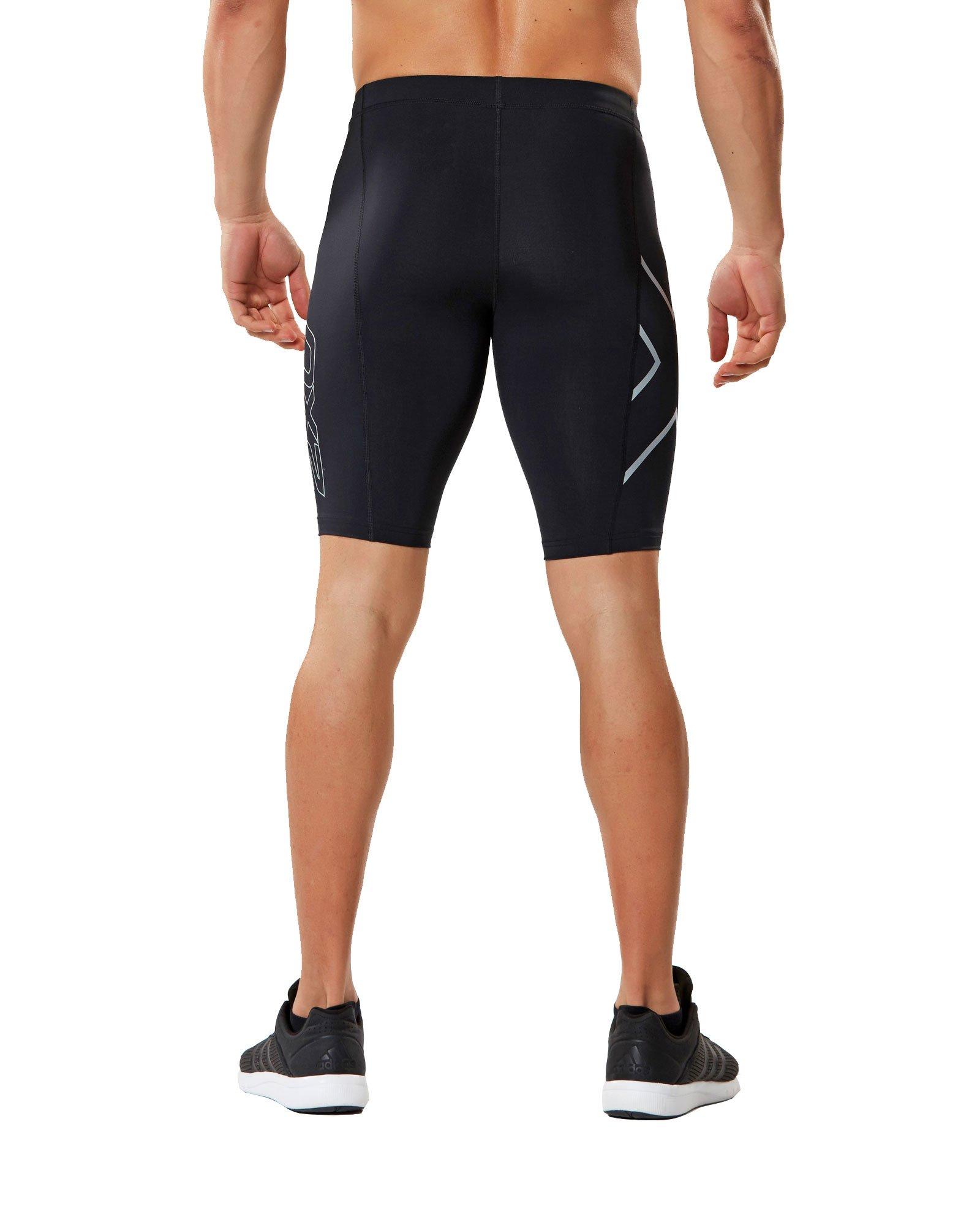 2XU Core Compression Shorts, Black/Silver, Medium by 2XU (Image #3)