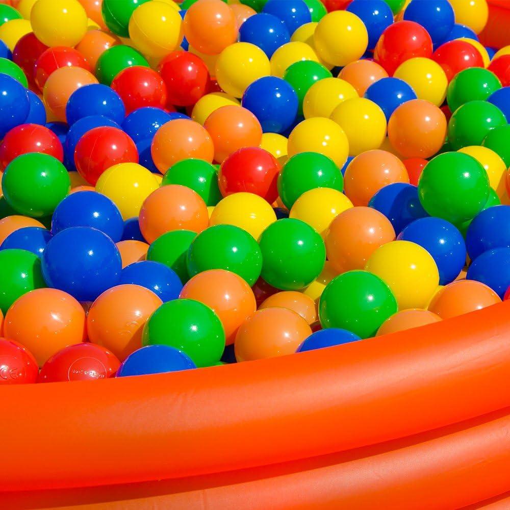 LittleTom 50 Plastic Balls 5.5 cm for Ball Pits Children Kids Baby Pool Balls multi-coloured