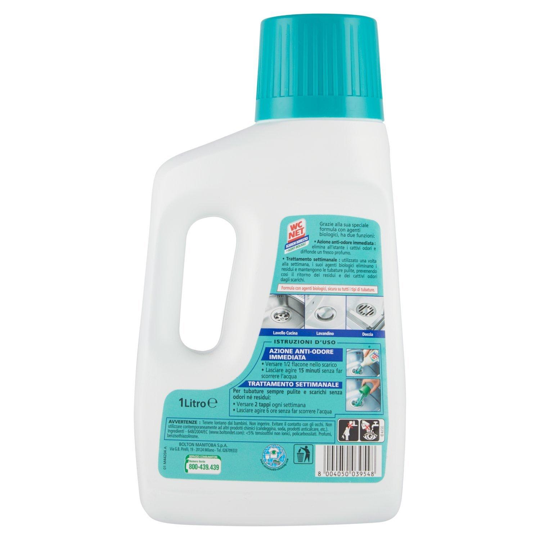 WC Net - Tratamiento para Tuberías domésticas, aroma de pino - 2 unidades de 1 l [2 l]: Amazon.es: Salud y cuidado personal