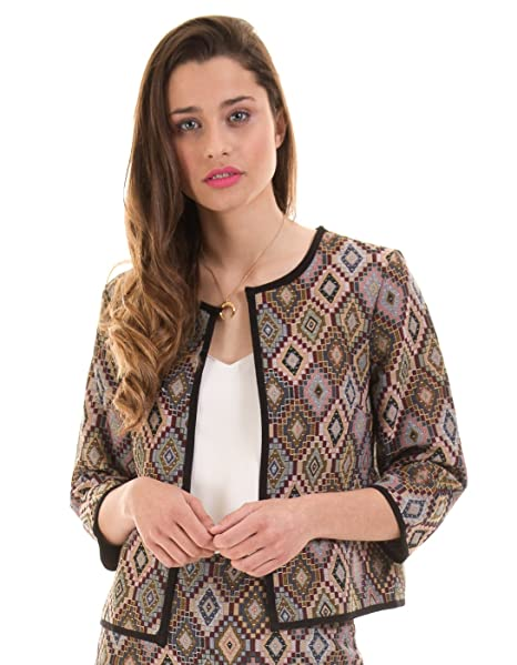 Vila Chaqueta Corte Chanel Clothes (Estampado - 40): Amazon ...