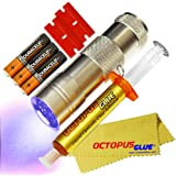Octopus Glue - Liquid Optically Clear Adhesive (LOCA) - The ORIGINAL PREMIUM LOCA UV Glue (3 ml w/ UV LED Flashlight)