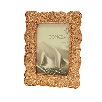 Amazoncom Concepts In Time Picture Frame Rose Gold Textured