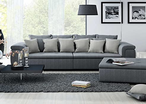 Megasofa grau  XXL-Sofa, Big-Sofa, Mega Sofa, Ultrasofa, Couch, Loungesofa ...