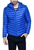 Men's Hooded Packable Down Puffer Coat Lightweight Down Fall and Winter Jacket