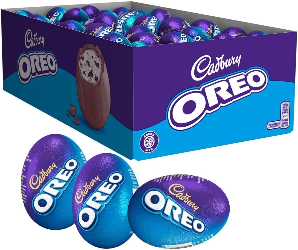Cadbury Oreo Chocolate Easter Egg Pack of 48 WAS £27.84 NOW £16.80 with £7.20 Voucher @ Amazon