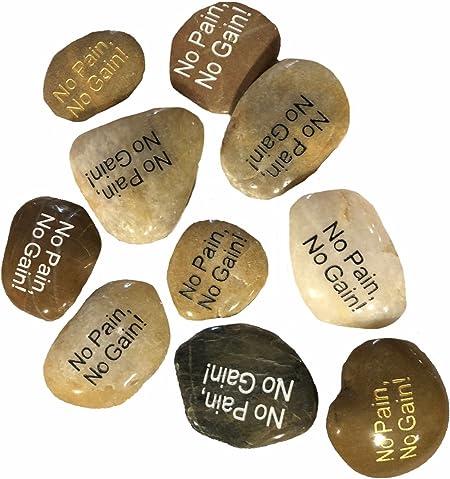 Wholesale Bulk Lot Mix 100 pcs Big Inspirational Etched Words Stones Peace Cross