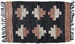 Shop LC Delivering Joy Park B. Smith Accent Rug Leather Cotton Living Room Decor Fast Drying Fringes Handwoven
