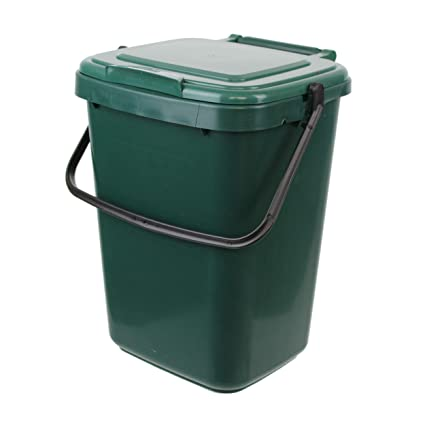 large green kitchen compost caddy 10l for food waste recycling 10 rh amazon co uk