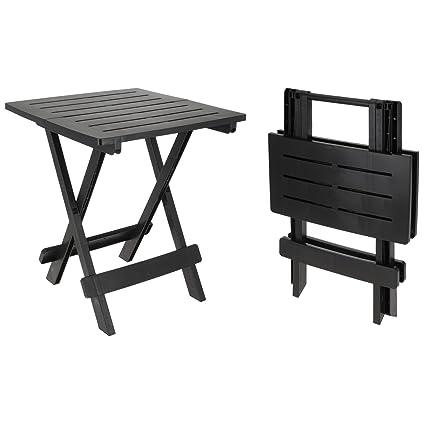 PROGARDEN Plastique Table d\'appoint Petite Table Pliante ...