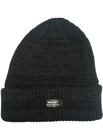 30fc469b3ed Adults Chunky Marl Knit 3M Thinsulate Insulated Beanie Hats (Black Marl)   Amazon.co.uk  Clothing