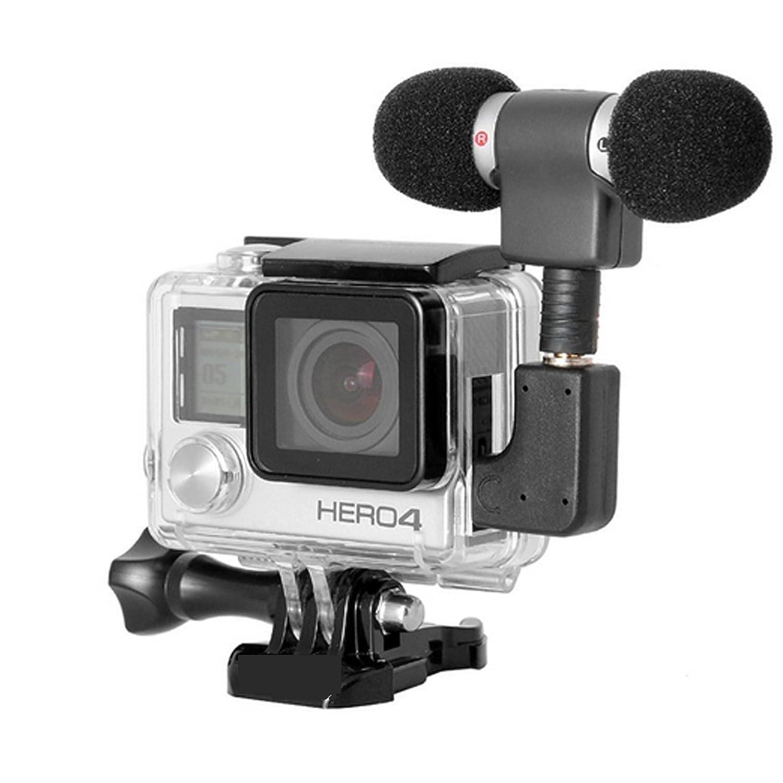 Carcasa protectora EHAO para GoPro Hero 4 con pantalla LCD táctil, con apertura lateral y puerta posterior
