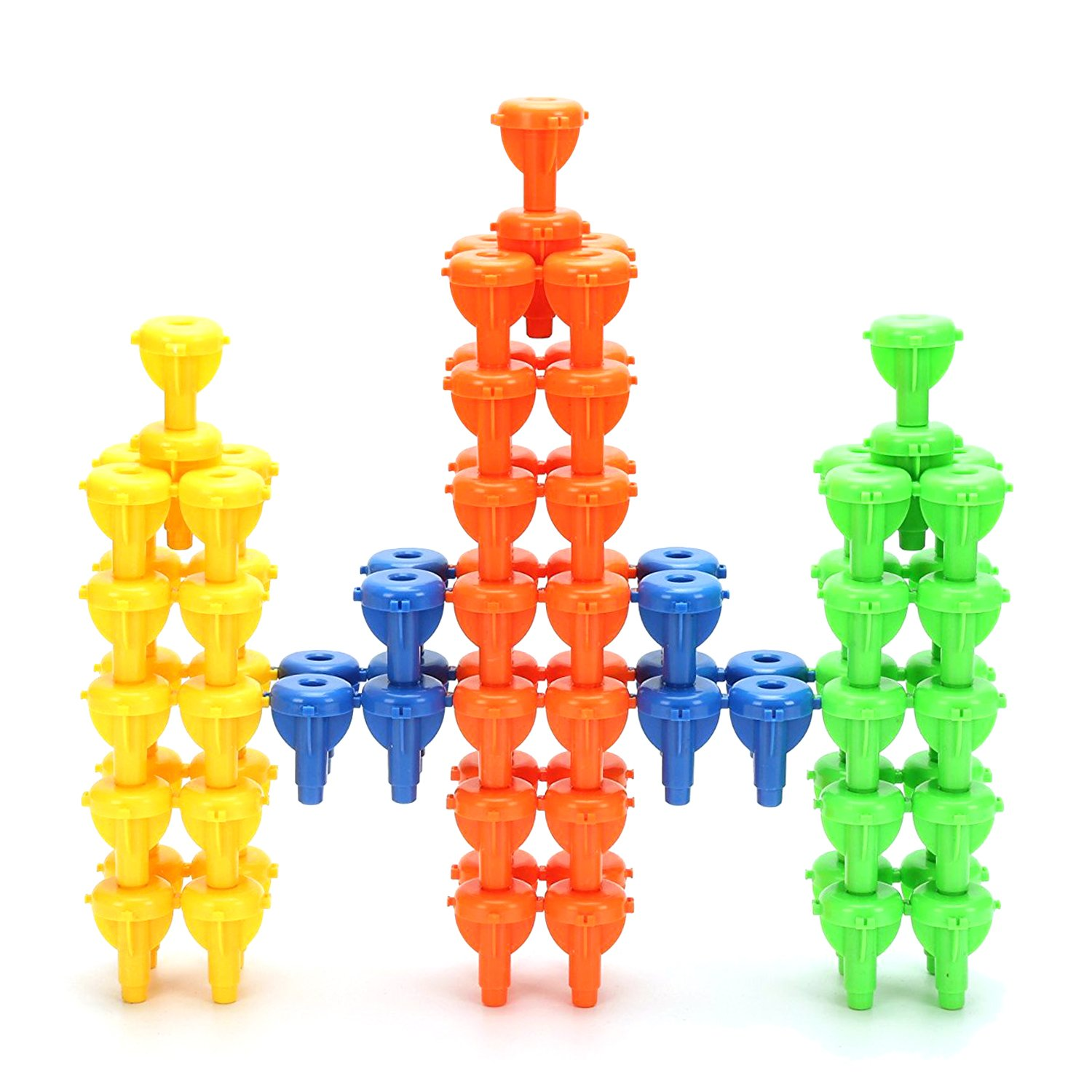 96Pcs Pegs Stacking Toy Occupational Therapy Fine Motor Building Blocks Colour Recognition Sorting Games for Kids   B07258VFVN