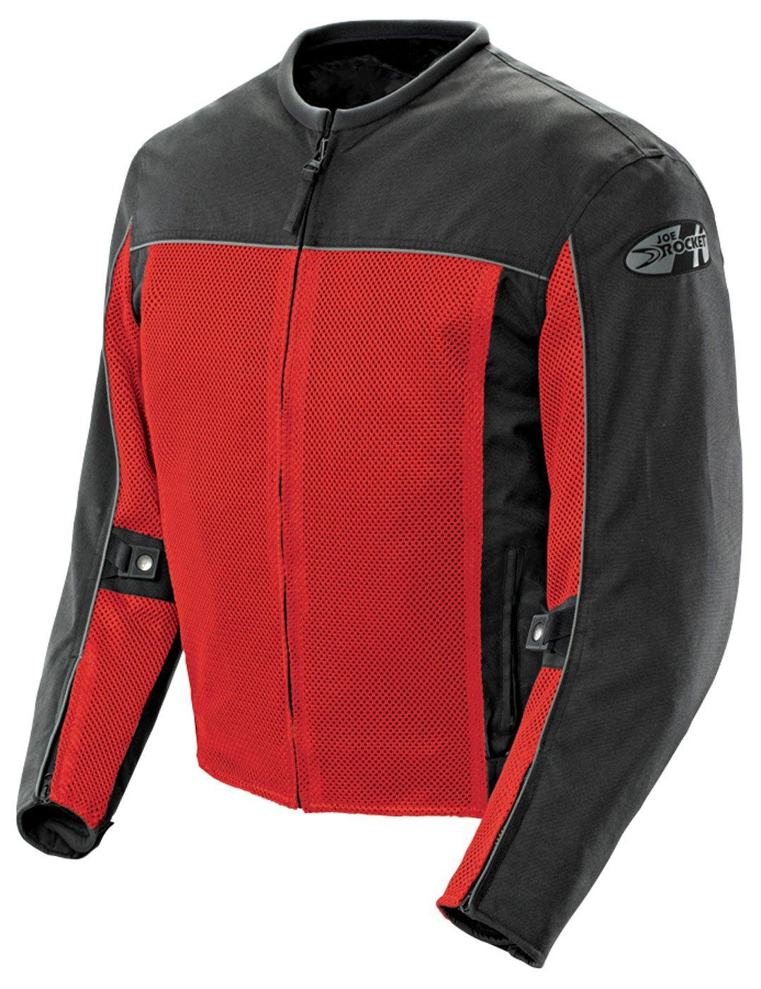 Joe Rocket Men's Velocity Mesh Motorcycle Jacket (Red, XXX-Large)