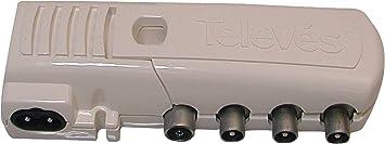 Televes 545740 - Amplificador Vivienda 1e(2s+TV) cei 47.790mhz 20db