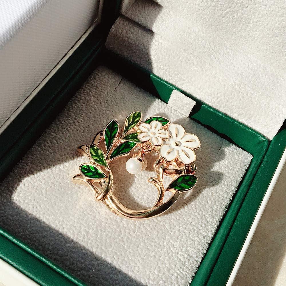 YYOGG Brooch Wild Fresh Gardenia Flower Pearl Brooch Pin Coat Sweater Accessories Female