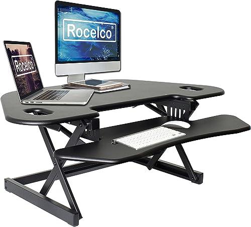 Deal of the week: Rocelco 46″ Height Adjustable Corner Standing Desk Converter