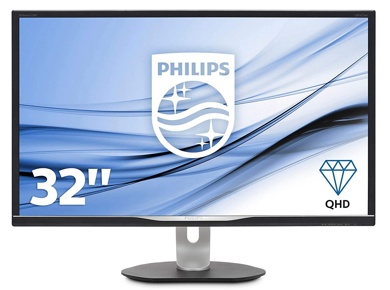Philips B Line Moniteur LCD QHD 328B6QJEB/00 - Écrans Plats de PC (80 cm (31.5'), 2560 x 1440 Pixels, Quad HD, LED, 5 ms, Noir, Argent)