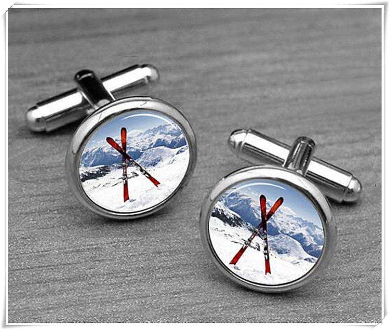 Ski Tableau Boutons de manchette de ski Racing, Sports d'hiver Sports d' hiver Forever family ce67