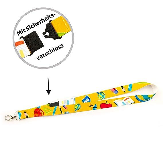 Fu/ßball, 20 mm Schl/üsselb/änder Lanyards f/ür Kinder vorgefertigt sofort lieferbar im 5er Pack