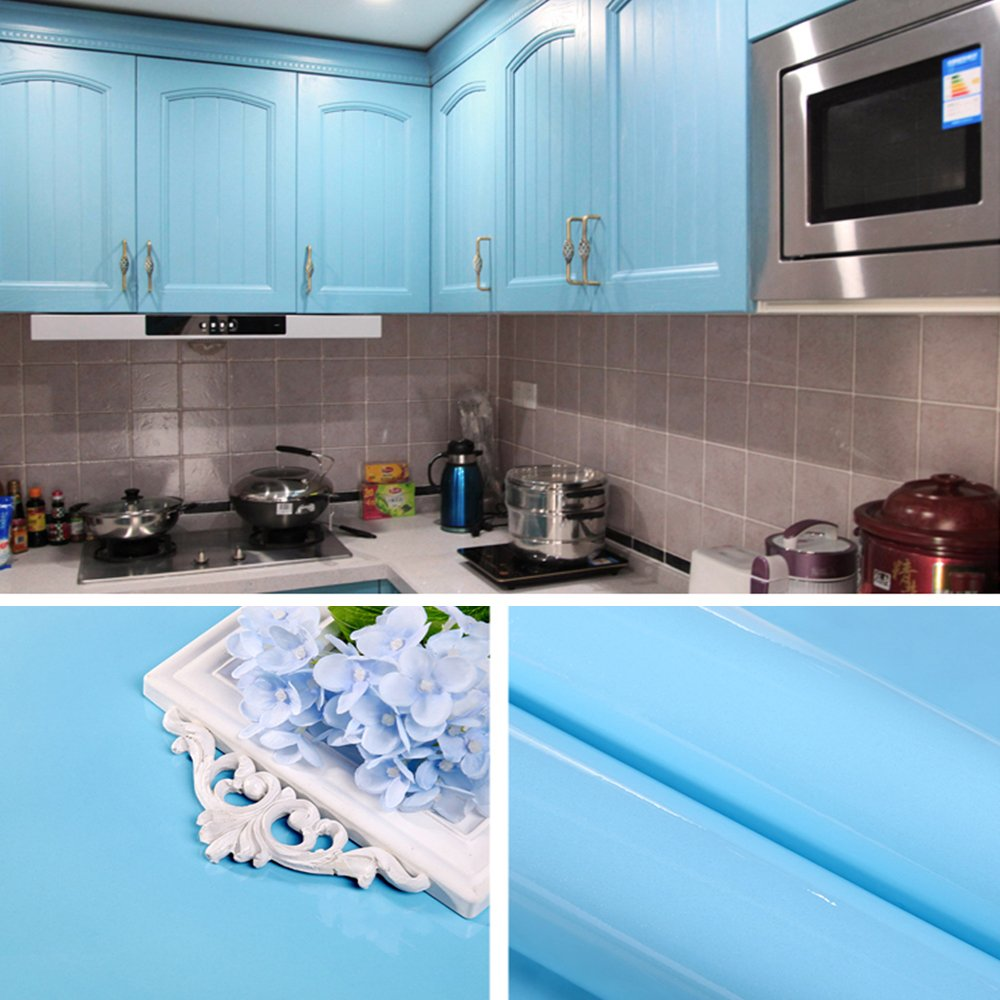 Gloss Self Adhesive PVC Stickers Back Sticky for Kitchen Cupboard ...