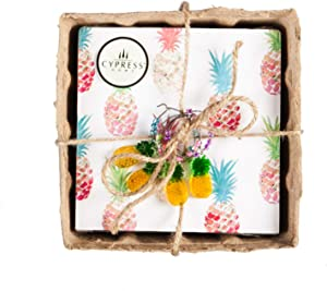 Pineapple Party Paper Napkin Set of 60-5 x 5 Inches