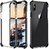 Bovon iPhone X Case, [Crystal Clear] [Shock Absorption] [Support Wireless Charging] Hard PC Back Protective Case Cover with Reinforced Frame & TPE Corner Cushion for Apple iPhone X / iPhone 10 (2017)