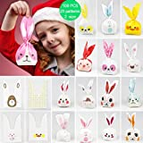 Kids party bags,50pcs 2 size 25 types of patterns for kids birthday Christmas goodies cute rabbit plasticbags USE for Gift,candies,small toys,chocolates,ornament,hairpin,food,cookie,dessert