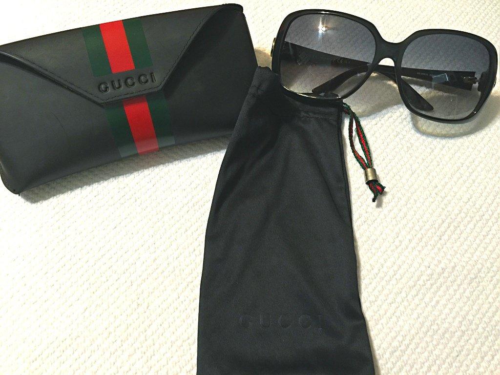 05cce1fca2e GUCCI Original Italy Sunglasses GG 3166 S D28JJ Black