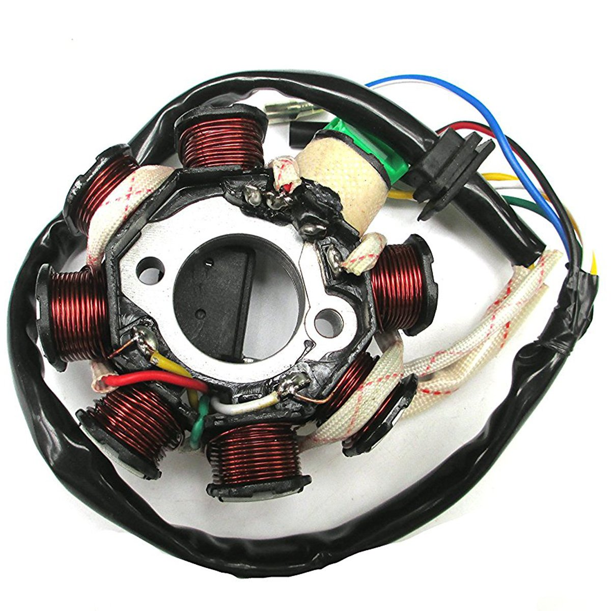 Triumilynn Magneto Stator Ignition Generator 8 Pole Coils Fits GY6 125 150cc Moped Scooter Go Kart ATV