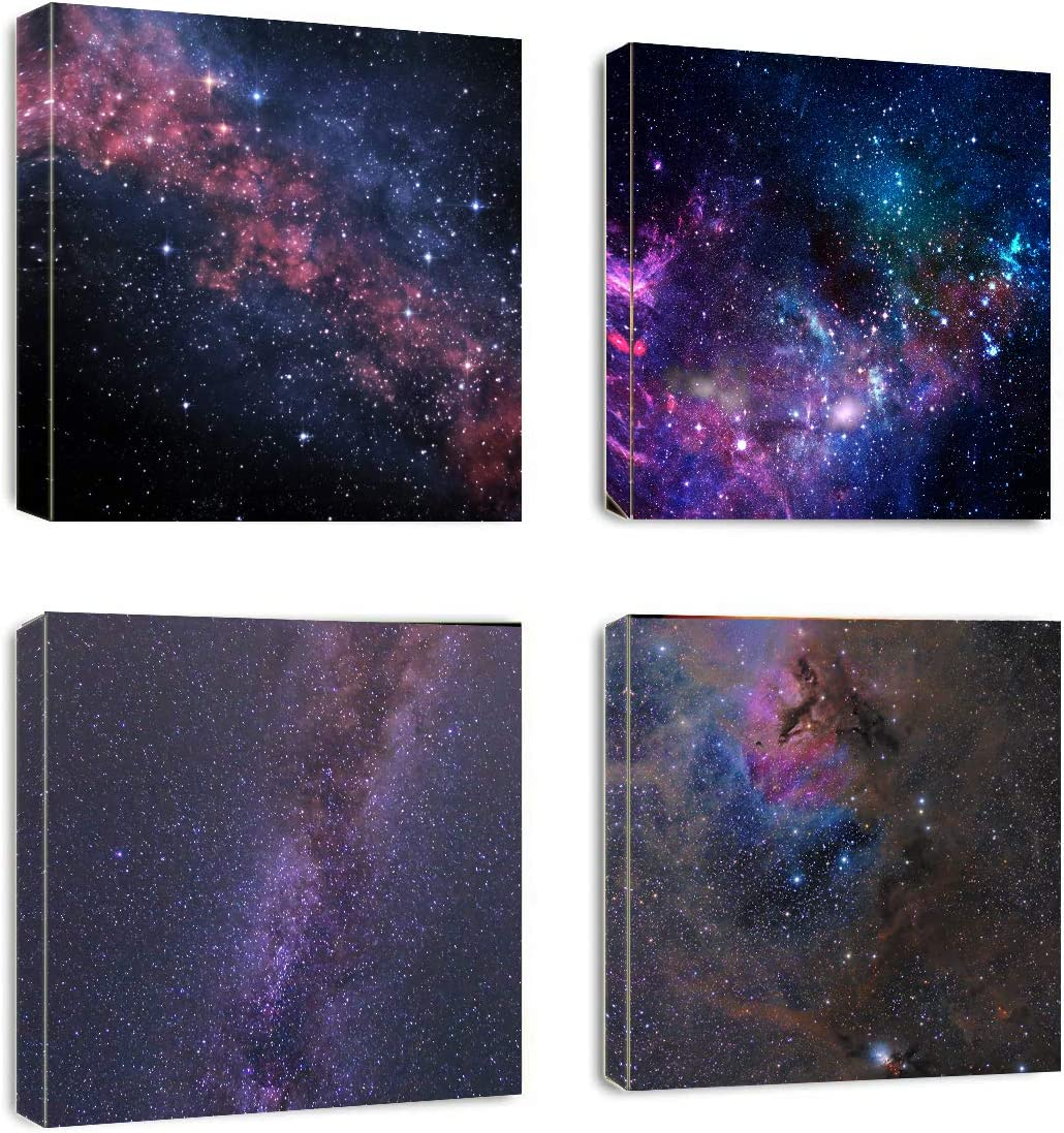 Canvas Wall Art - Outer Space Nebula Galaxy Fantastic Artwork- Mordern Picture Canvas Prints Framed for Home Kids Room Wall Decor